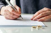 Divorce decree signing / wedding rings