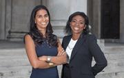 Halebury's Janvi Patel and Denise Nurse