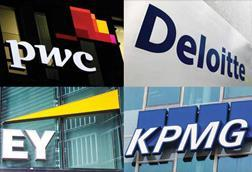 Big Four accountants logos