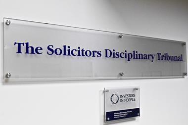 Solicitors Disciplinary Tribunal sign