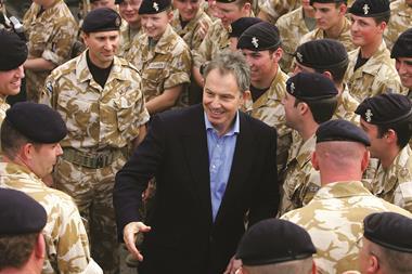 Tony blair meeting troops iraq war copy