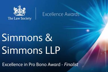Excellence in Pro Bono Award – Finalist 2017