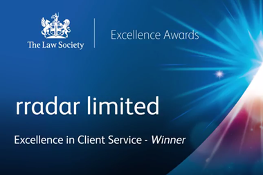 The Law Society Excellence Awards 2017: rradar limited