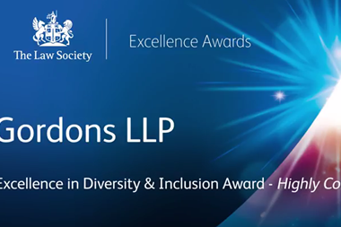 The Law Society Excellence Awards 2017: Gordons LLP