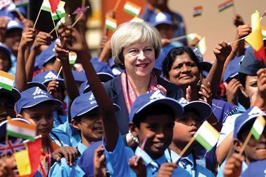 Theresa may india