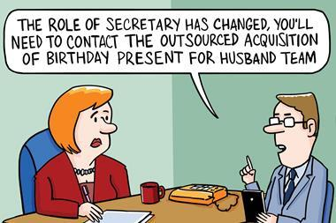 Secretary cartoon