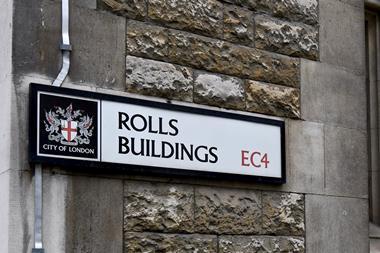 Rolls Buildings street sign