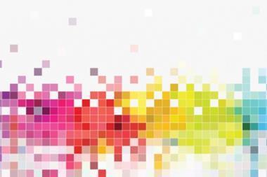 Data pixels illustration