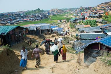 rohingya housing at jamtoli refugee camp