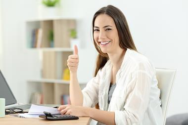 Happy accountant