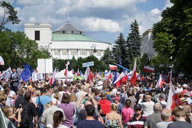 Poland judicial protests