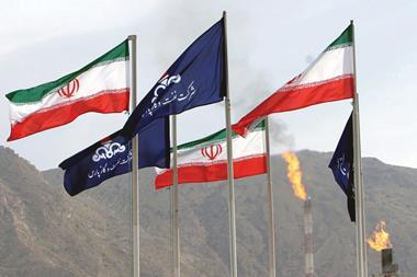 Iran oil flags