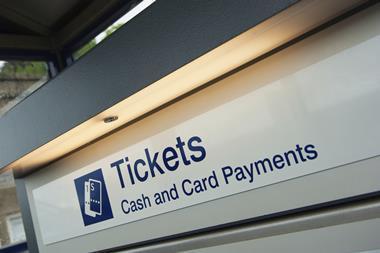 Train ticket machine