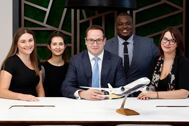 Pictured L-R: Harriet Edwards, Camelia Nesari, Andrew Krausz, Oyin Ogunkanmi and Hayley Kiely of Weightmans