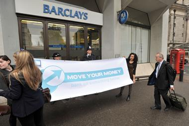 Barclays protest