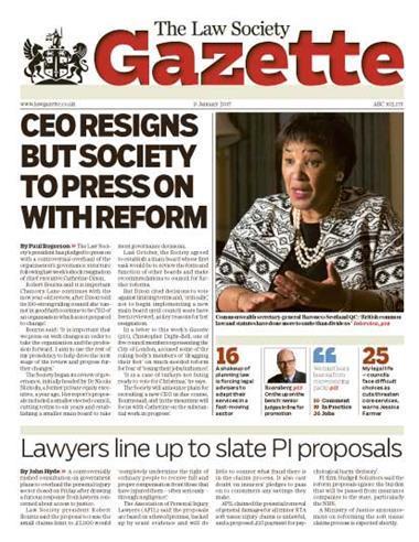 Law Society Gazette 9 January 2017