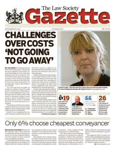 Law Society Gazette 29 January 2018