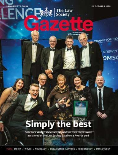 Law Society Gazette 22 October 2018