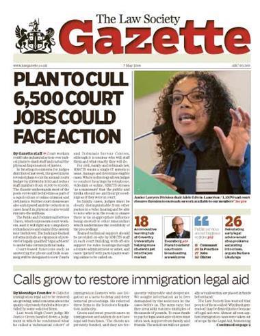 Law Society Gazette 7 May 2018