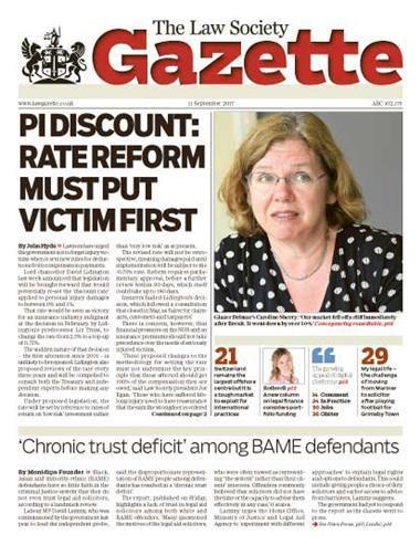 Law Society Gazette 11 September 2017