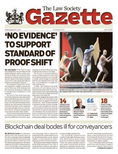 Law Society Gazette 16 October 2017