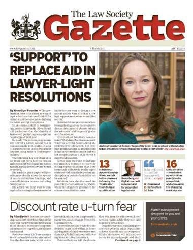 Law Society Gazette 6 March 2017