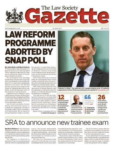 Law Society Gazette 24 April 2017
