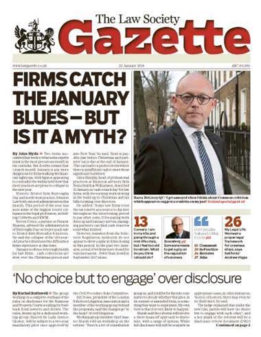 Law Society Gazette 22 January 2018