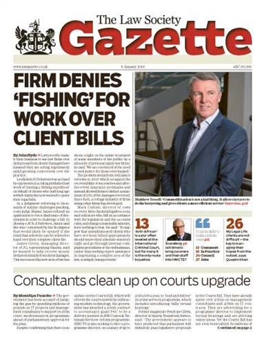 Law Society Gazette 8 January 2018