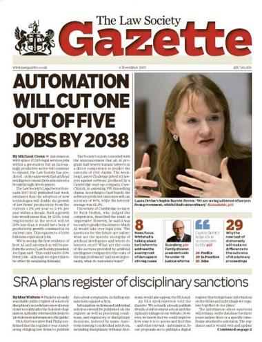 Law Society Gazette 6 November 2017