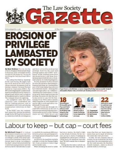 Law Society Gazette 15 May 2017