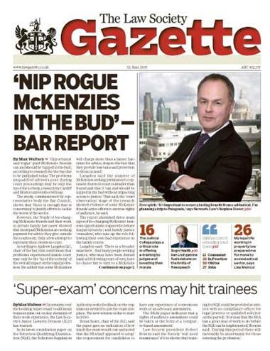 Law Society Gazette 12 June 2017