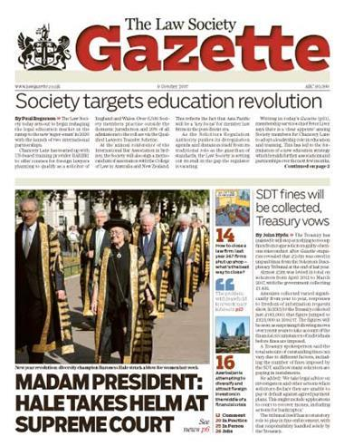 Law Society Gazette 9 October 2017