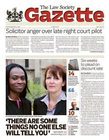 Law Society Gazette 3 April 2017