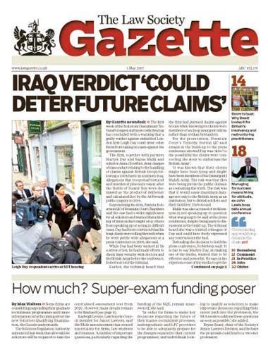 Law Society Gazette 1 May 2017