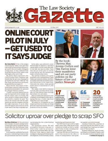 Law Society Gazette 22 May 2017