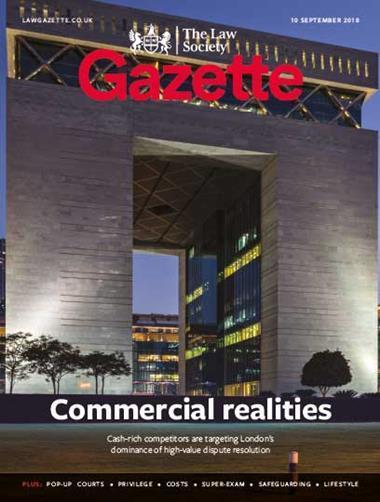 Law Society Gazette 10 September 2018