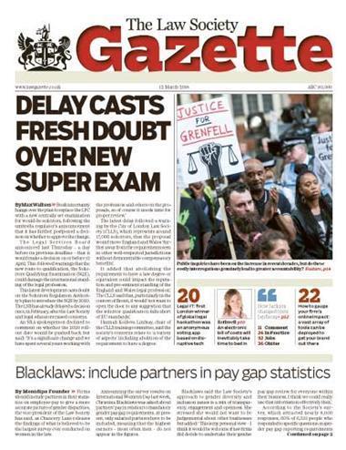 Law Society Gazette 12 March 2018