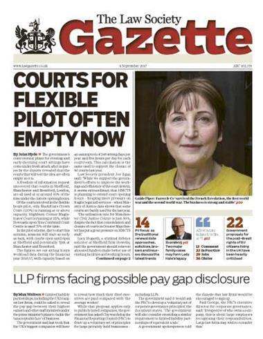 Law Society Gazette 4 September 2017