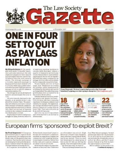 Law Society Gazette 13 November 2017