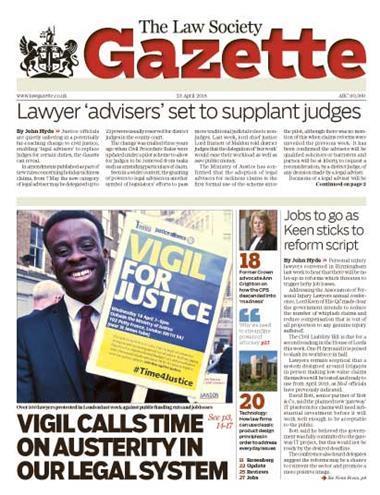 Law Society Gazette 23 April 2018