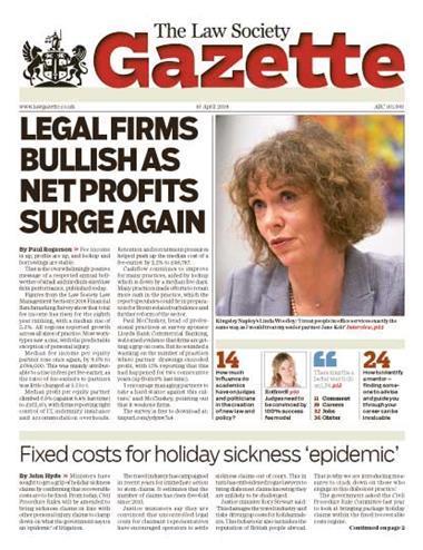 Law Society Gazette 16 April 2018