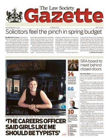 Law Society Gazette 13 March 2017