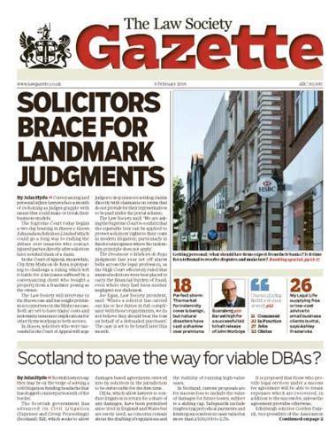 Law Society Gazette 5 February 2018
