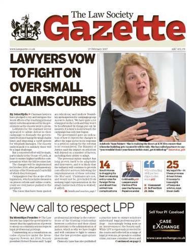 Law Society Gazette 27 February 2017