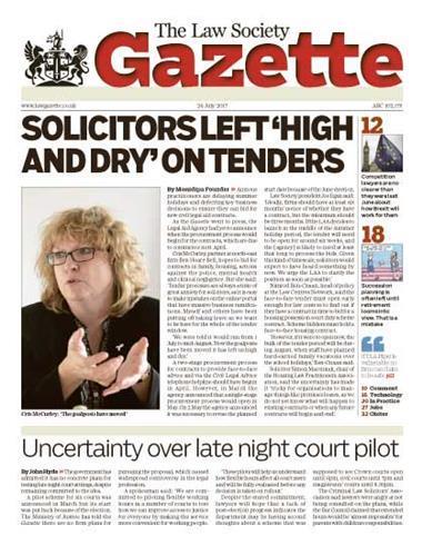 Law Society Gazette 24 July 2017