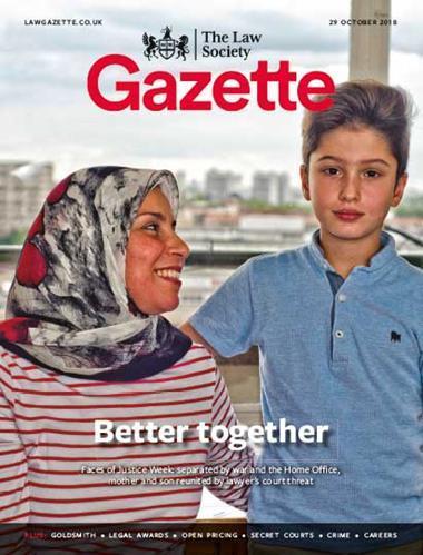 Law Society Gazette 29 October 2018