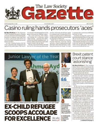 Law Society Gazette 30 October 2017
