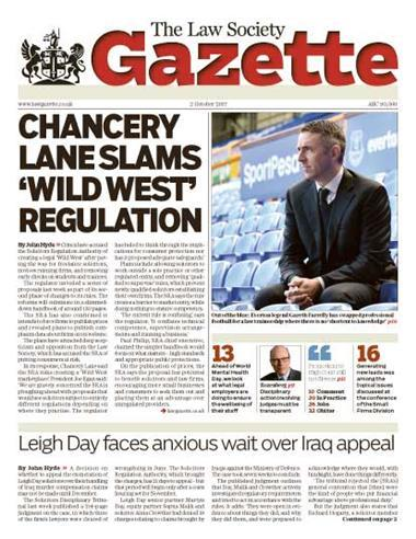 Law Society Gazette 2 October 2017