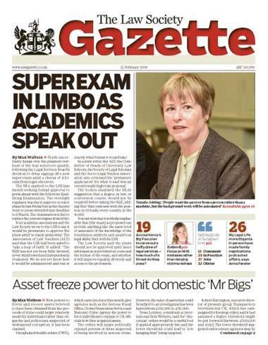 Law Society Gazette 12 February 2018